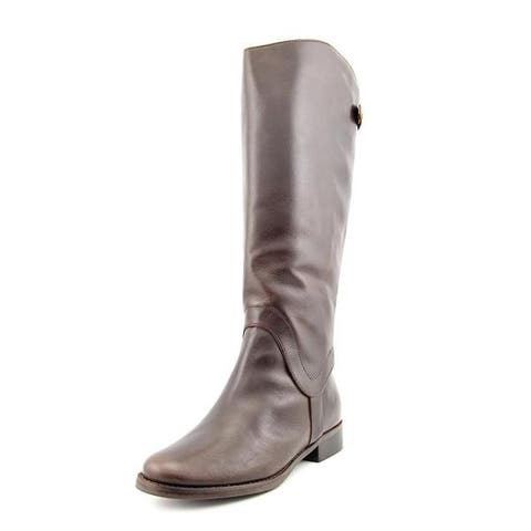 Steven by Steve Madden Women Sady-W Wide Calf Boot Shoe Brown Leather