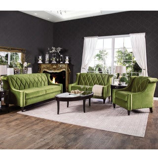 Furniture of America Leesha Formal 3-piece Premium Fabric Sofa Set