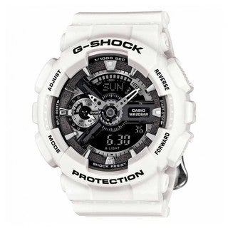 Casio G-Shock GMAS110F-7ACR Analog-Digital Dial White Resin Watch