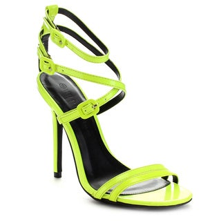 Wild Diva ADELE-163 Women's Criss Cross Strappy Stiletto Heel Dress Sandals
