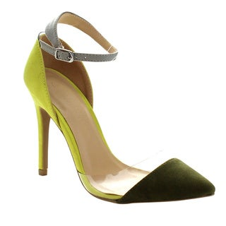 Wild Diva AKIRA-45 Women's D'Orsay Stiletto Pumps