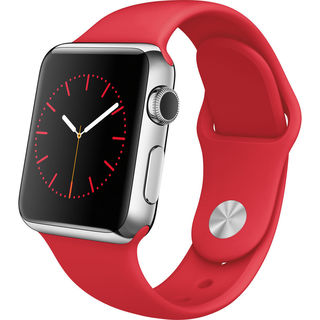 Apple Watch Smartwatch (38mm, Stainless Steel, (PRODUCT)RED Sport Band)