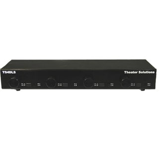Theater Solutions TS4DLS Home Audio Speaker Selector Box with Volume Controls Dual Source to Four Pair Switcher