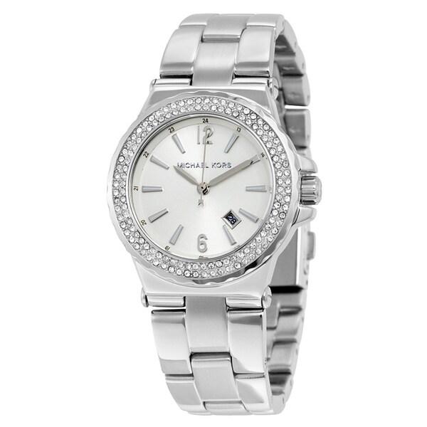 db720019e13db Michael Kors Women's Diamond Silver Dial Stainless Steel Bracelet Watch