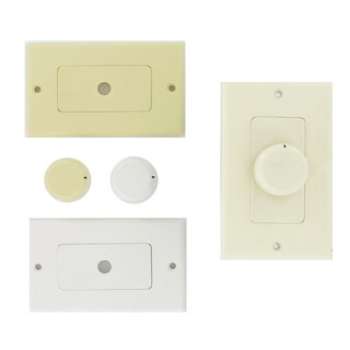 Theater Solutions TSVCD White Wall-mount Impedance Matching Speaker Dial Volume Control Switch
