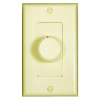 Theater Solutions TSVCD-I Ivory Wall-mount Impedance Matching Speaker Dial Volume Control Switch