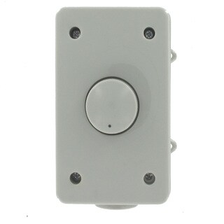 Theater Solutions OVCDG Outdoor Weatherproof Wall-mount Impedance Matching Speaker Dial Volume Control Grey Switch