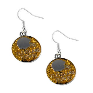 NFL Cleveland Browns Logo Glitter Dangle Earring Set