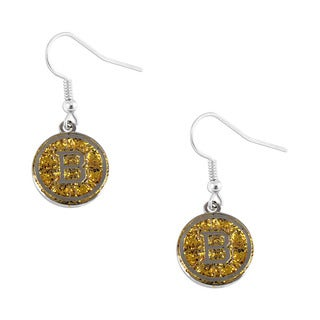 NHL Boston Bruins Glitter Dangle Earring Set
