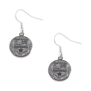 NHL La Los Angeles Kings Glitter Dangle Earring Set