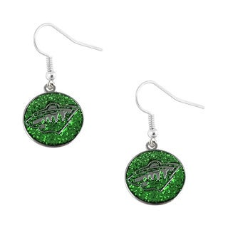 NHL Minnesota Wild Glitter Dangle Earring Set