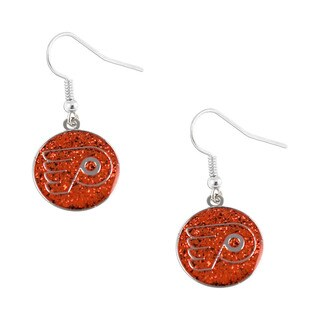 NHL Philadelphia Flyers Glitter Dangle Earring Set