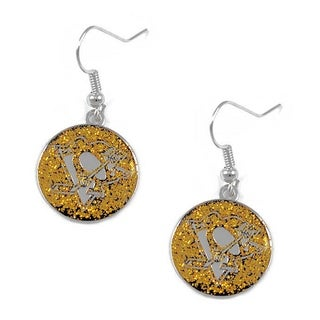 NHL Pittsburgh Penguins Glitter Dangle Earring Set