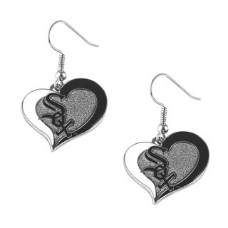 MLB Chicago White Sox Swirl Heart Earring Set