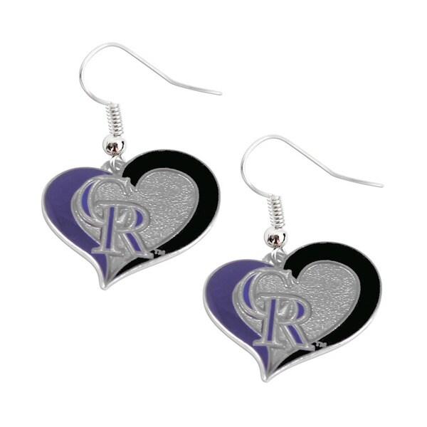 MLB Colorado Rockies Swirl Heart Earring Set