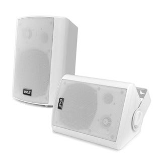 Pyle PDWR51BTWT White Wall Mount Waterproof and Bluetooth 5.25-inch Indoor / Outdoor Speaker System