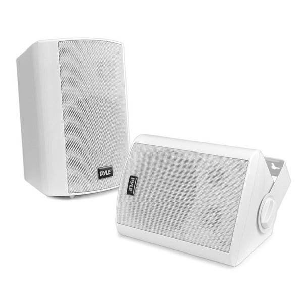 Pyle Pdwr61btwt White Wall Mount Waterproof And Bluetooth