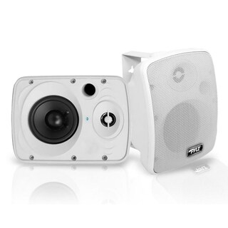 Pyle PDWR54BTW White Waterproof and Bluetooth 5.25-inch 600-watt Indoor / Outdoor Speaker System