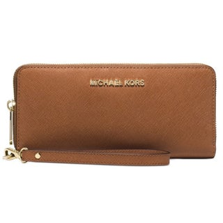 Michael Kors Jet Set Travel Continental Wallet (Option: Luggage Brown)