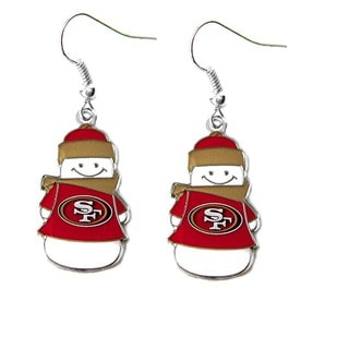 NFL San Francisco 49ers Snowman Dangle Logo Earring Set