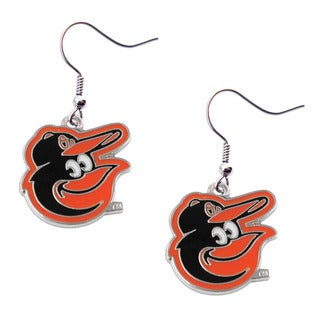 MLB Sports Team Baltimore Orioles Dangle Logo Earring Set