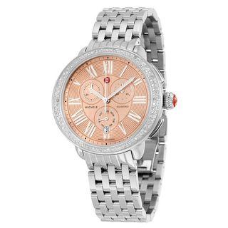 Michele Women's MWW21A000046 'Serein' Chronograph Diamond Stainless Steel Watch