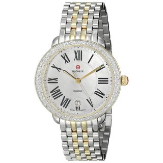 Michele Women's MWW21B000007 'Serein 16' Diamond Two-Tone Stainless Steel Watch
