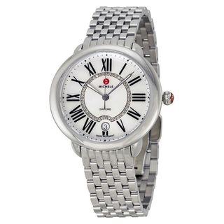 Michele Women's MWW21B000009 'Serein 16' Diamond Stainless Steel Watch