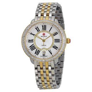 Michele Women's MWW21B000032 'Serein 16' Diamond Two-Tone Stainless Steel Watch