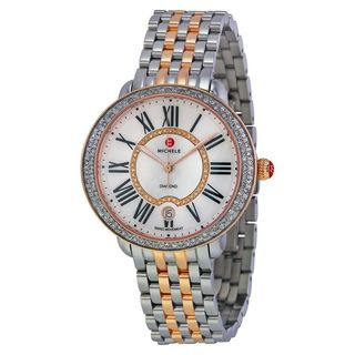 Michele Women's MWW21B000046 'Serein 16' Diamond Two-Tone Stainless Steel Watch
