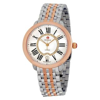 Michele Women's MWW21B000048 'Serein 16' Diamond Two-Tone Stainless Steel Watch