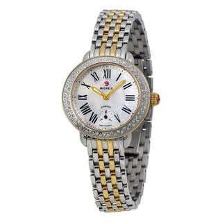 Michele Women's MWW21E000007 'Serein' Diamond Two-Tone Stainless Steel Watch