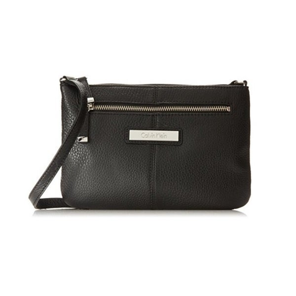 94253aa869a7 Shop Calvin Klein Key Item Pebble Leather Crossbody - Free Shipping ...