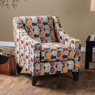 Furniture of America Posille Contemporary Fabric Curved Track Arm Chair