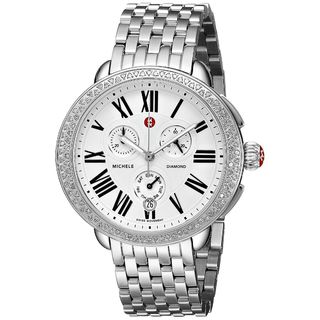 Michele Women's MWW21A000001 'Serein' Chronograph Diamond Stainless Steel Watch