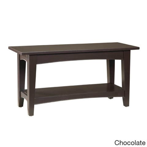 Copper Grove Daintree Wood Entryway Bench with Shelf