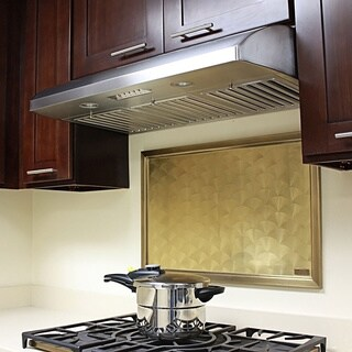 "KOBE CH2230SQB-5 Deluxe 30"" Under Cabinet Range Hood, 6-Speed, 640 CFM, LED Lights, Baffle Filters"