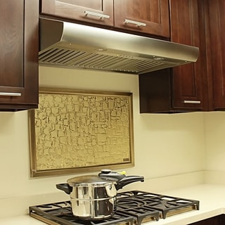 "KOBE CH2742SQB-5 Deluxe 42"" Under Cabinet Range Hood, 6-Speed, 640 CFM, LED Lights, Baffle Filters"