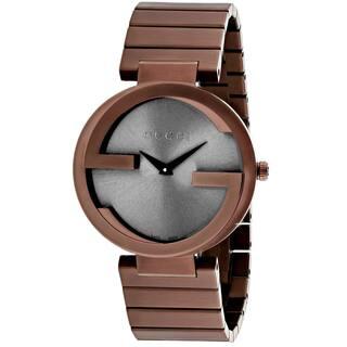 Gucci Women's YA133317 Interlocking G Round Rose Gold-tone Stainless Steel Bracelet Watch|https://ak1.ostkcdn.com/images/products/11099946/P18105315.jpg?impolicy=medium