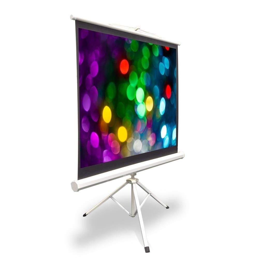 Pyle PRJTP42 40-inch Tripod Stand Style Video Projector Screen with Easy Fold-out and Roll-up Projection Display (PRJTP42), White