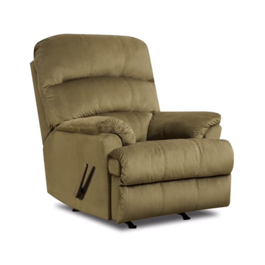 Simmons Upholstery Hampton Rocker Recliner (Army), Green,...