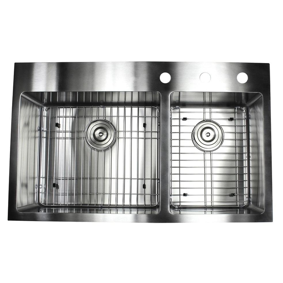 36-inch Topmount Drop-in Stainless Steel (Silver) Double ...