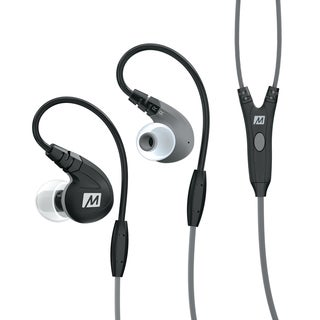 MEE M7P Secure-Fit Sports In-Ear Headphones with Mic, Remote, and Universal Volume Control (Black/Red/Green/Blue)