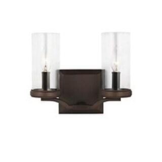 Feiss Jacksboro 2 - Light Vanity, Dark Antique Copper / Antique Copper