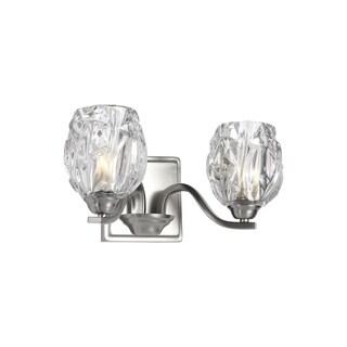 Feiss Kalli 2-light Satin Nickel Vanity