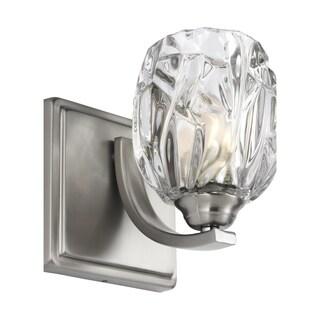 Feiss Kalli 1 - Light Wall Sconce, Satin Nickel