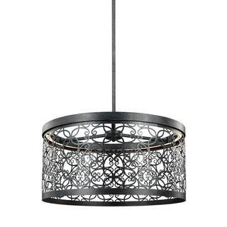 Feiss Arramore 1-light Dark Weathered Zinc Pendant
