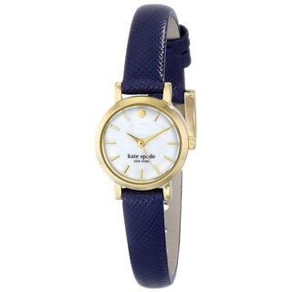 Kate Spade Women's 1YRU0456 'Tiny Metro' Blue Leather Watch