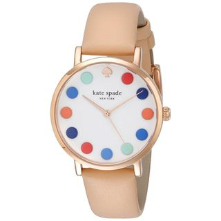 Kate Spade Women's 1YRU0735 'Metro' Beige Leather Watch
