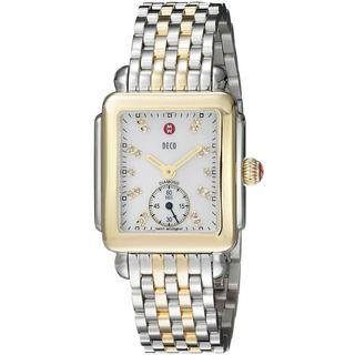 Michele Women's MWW06V000042 'Deco 16' Diamond Two-Tone Stainless Steel Watch
